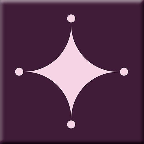 A-Boo - Pink / Purple (Single Tile)