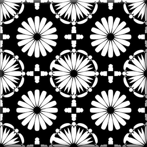 Kaleidoscope - Black / White (Single Tile)