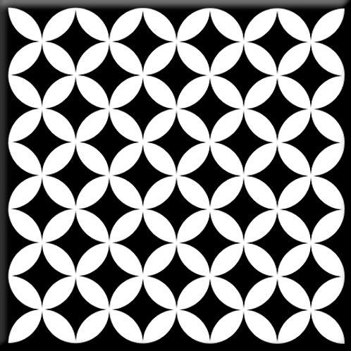 Needlepoint - Black / White (Single Tile)