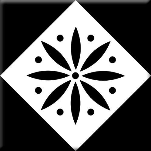 Spur - Black / White (Single Tile)