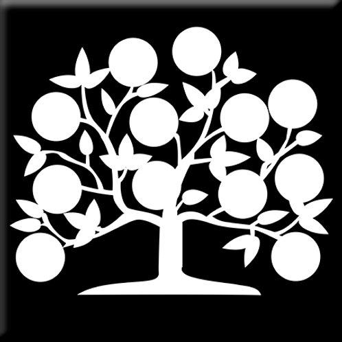 Tree of Life - Black / White (Single Tile)