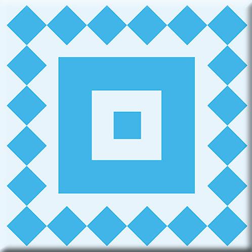 Checkers - Blue / Light Blue (Single Tile)
