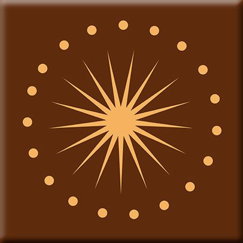 June Light - Orange / Brown (Single Tile)