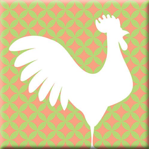 Doodle - Green / Pink (Single Tile)