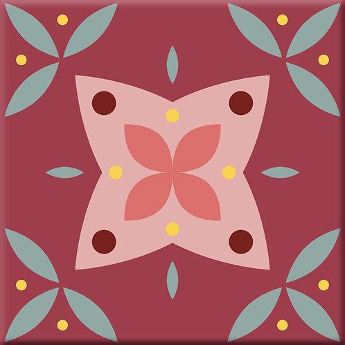 Ceylon - Red (Single Tile)