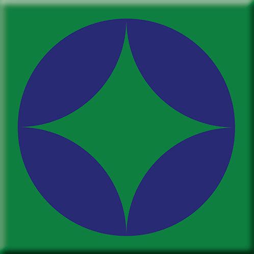 Peek - Blue / Green (Single Tile)