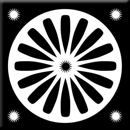 Bloomburst - Black / White (Single Tile)