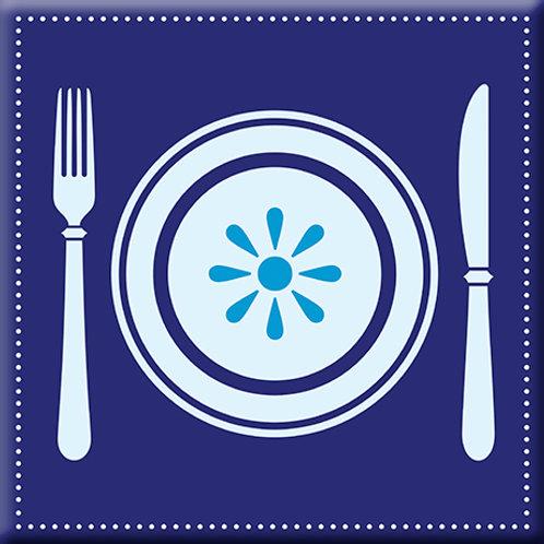 Let's Eat - Blue (Single Tile)