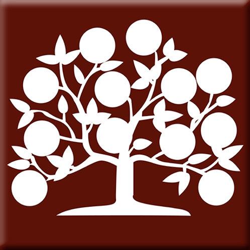 Tree of Life - Burgundy (Single Tile)