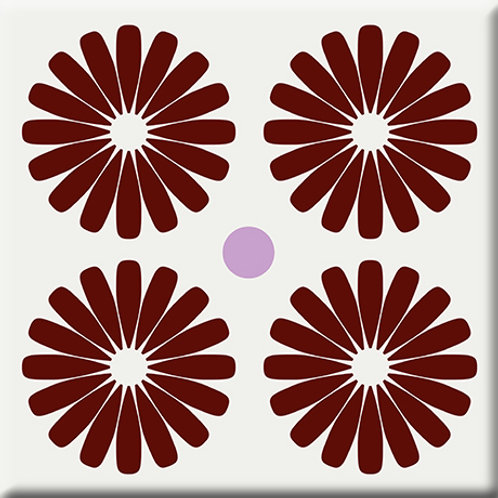 Pinwheels - Burgundy (Single Tile)