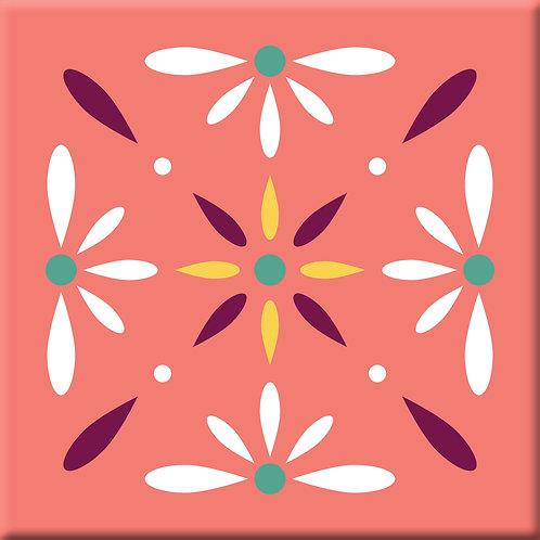 Victoria - Coral (Single Tile)