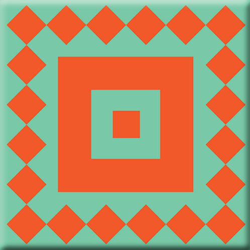 Checkers - Green / Orange (Single Tile)