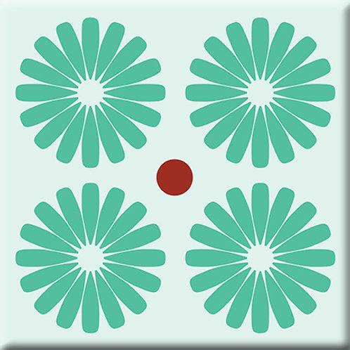 Pinwheels - Mint (Single Tile)
