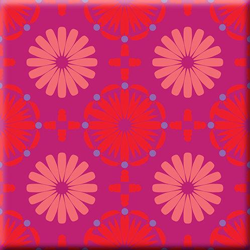 Kaleidoscope - Pink / Red (Single Tile)
