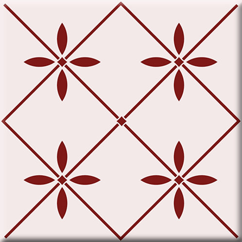 Glass - Burgundy (Single Tile)