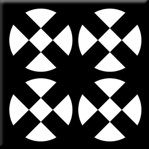 Hotplates - Black / White (Single Tile)