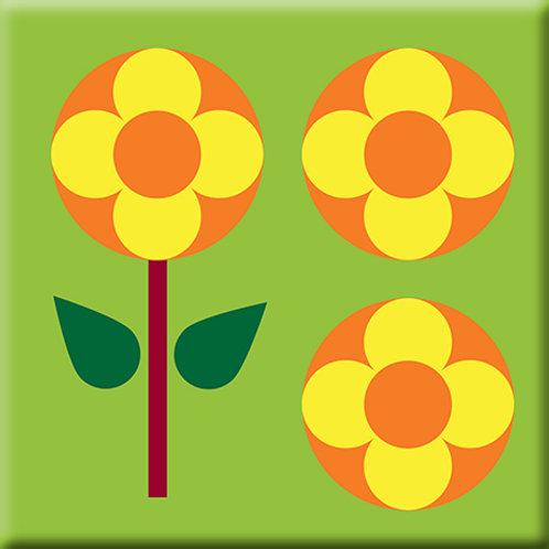 Garden Pop - Green (Single Tile)