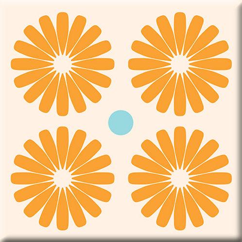 Pinwheels - Orange (Single Tile)