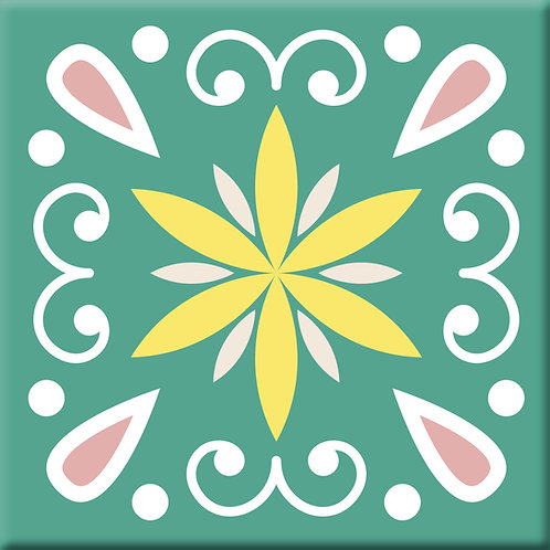 Heirloom - Green (Single Tile)