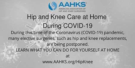 COVID-19 Hip & Knee Care at Home