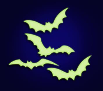 Morcego de Plástico Neon c/ 04 Brilha no Escuro