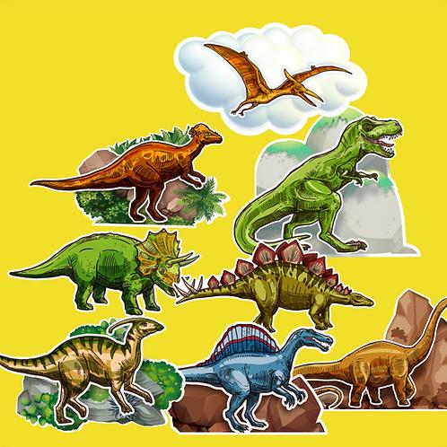 Dinossauro c/ 08 Peq.