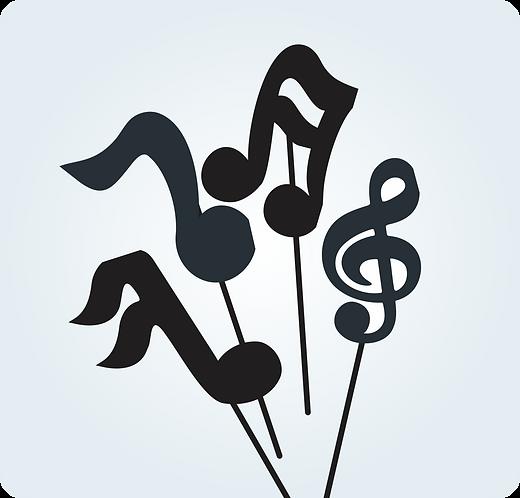 Palito Notas Musicais c/ 10