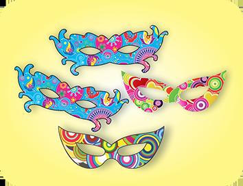 Mascara Carnaval c/04 Peq.