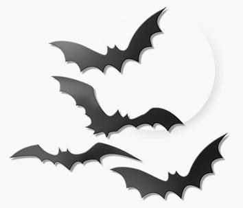Morcego de Plástico Preto c/ 04