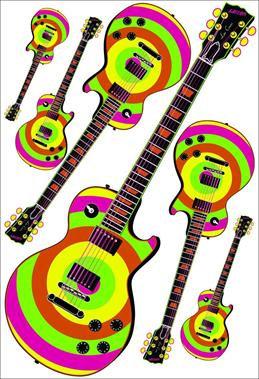 Kit Guitarra c/ 04 Colorida