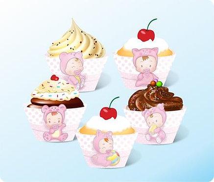 Cupcake Baby Rosa GDE com 12