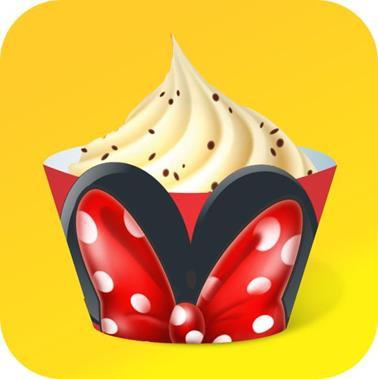Cupcake Orelha c/Laço c/ 12 Gde
