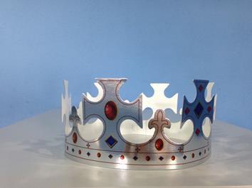 Coroa Cruz Prata c/ 01