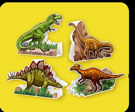 Enfeite p/ Mesa Dinossauro c/ 04