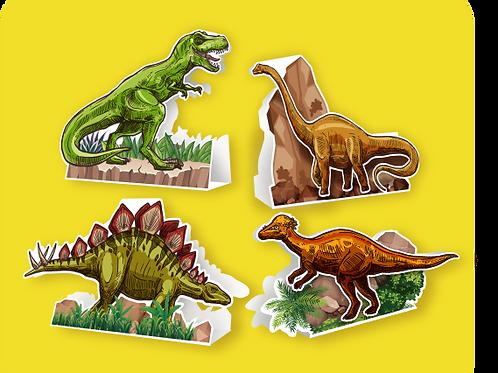 Enfeite p/ Messa Dinossauro c/ 04