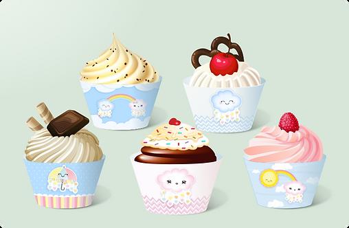 Cupcake Tempestade de Amor c/12
