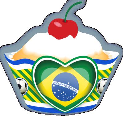 Cupcake Coração Copa c/ 12 Gde
