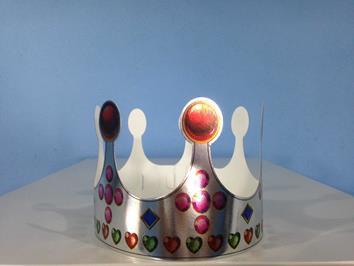 Coroa Bolinha Prata c/ 01
