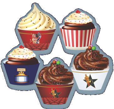 Cupcake Festa Oscar c/ 12