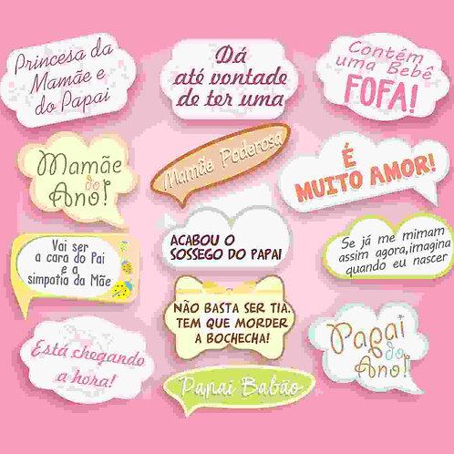 Placa Baby c/ 13 Rosa
