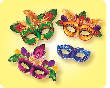 Máscara p/Rosto Carnaval c/ 04