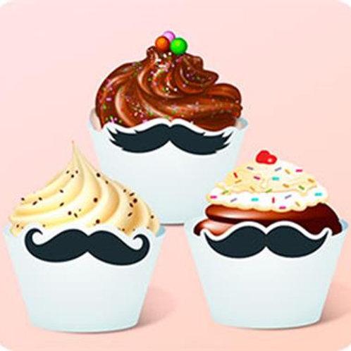 Cupcake Bigode c/ 12 Gde