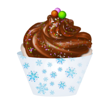 Cupcake Flocos de Neve c/ 12 Gde