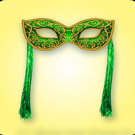 Máscara Verde c/ Chicote c/01