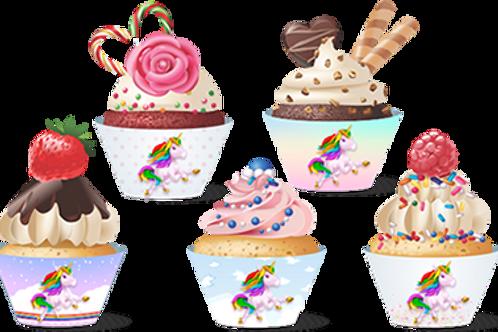 Cupcake Unicórnio c/ 12