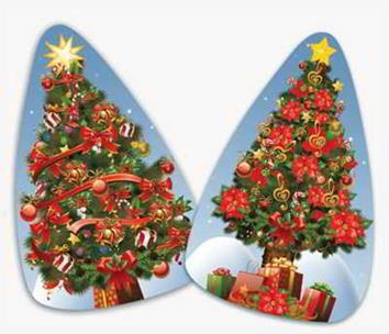 Árvore de Natal c/ 02 Peq