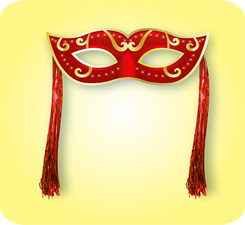Máscara Vermelha c/ Chicote c/01