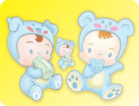 Kit Baby Azul com 03
