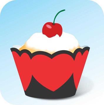Cupcake Coração c/ 12 Gde