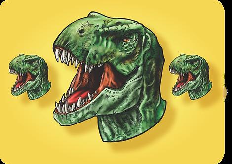 Kit Tiranossauro Rex c/ 03